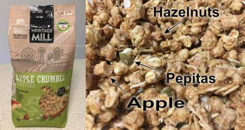 Cereal 'HERITAGE MILL' Apple Crumble Clusters