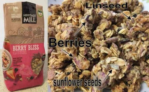 Cereal 'HERITAGE MILL' Berry Bliss Clusters
