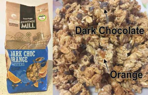Cereal 'HERITAGE MILL' Dark Choc Orange Clusters